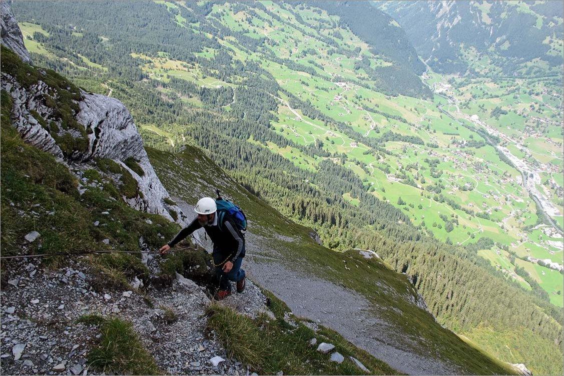 Klettersteig Grindelwald : Klettersteig ostegghütte